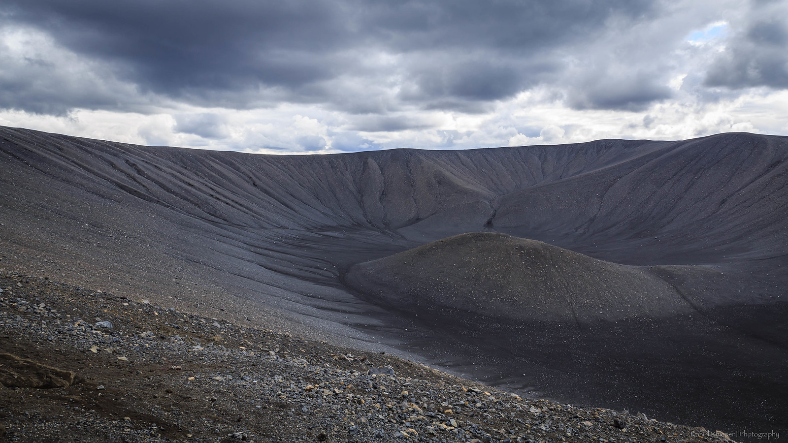 Hverfjall crater in Iceland