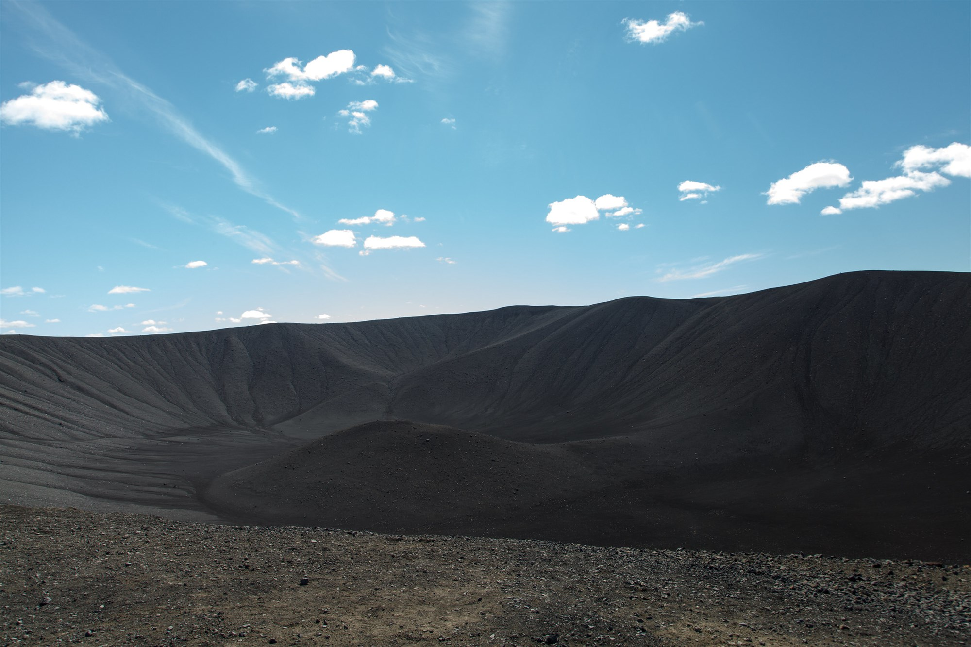 Hverfjall volcano in Iceland