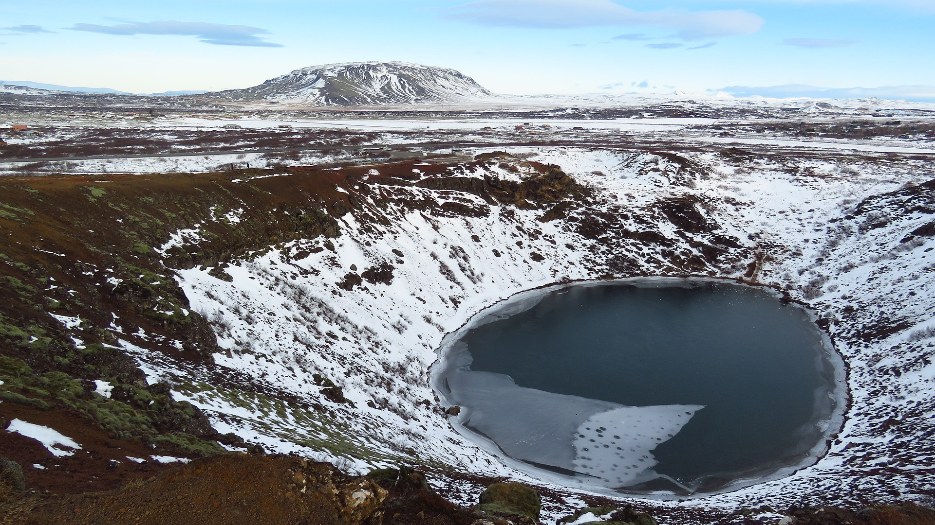Kerid crater in Iceland