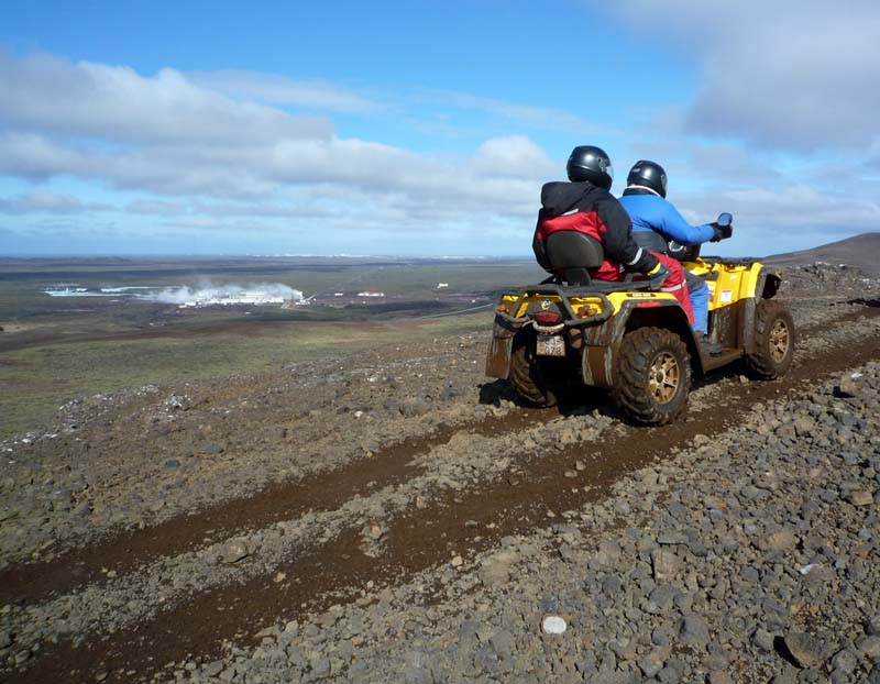 Quad tour in a sunny day in Iceland