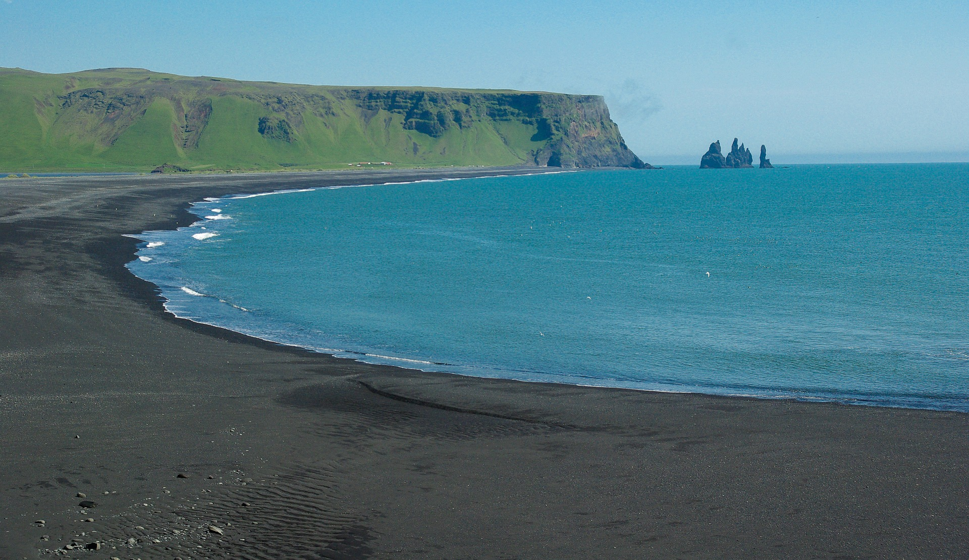 black sand beach iceland, cliffs,sea