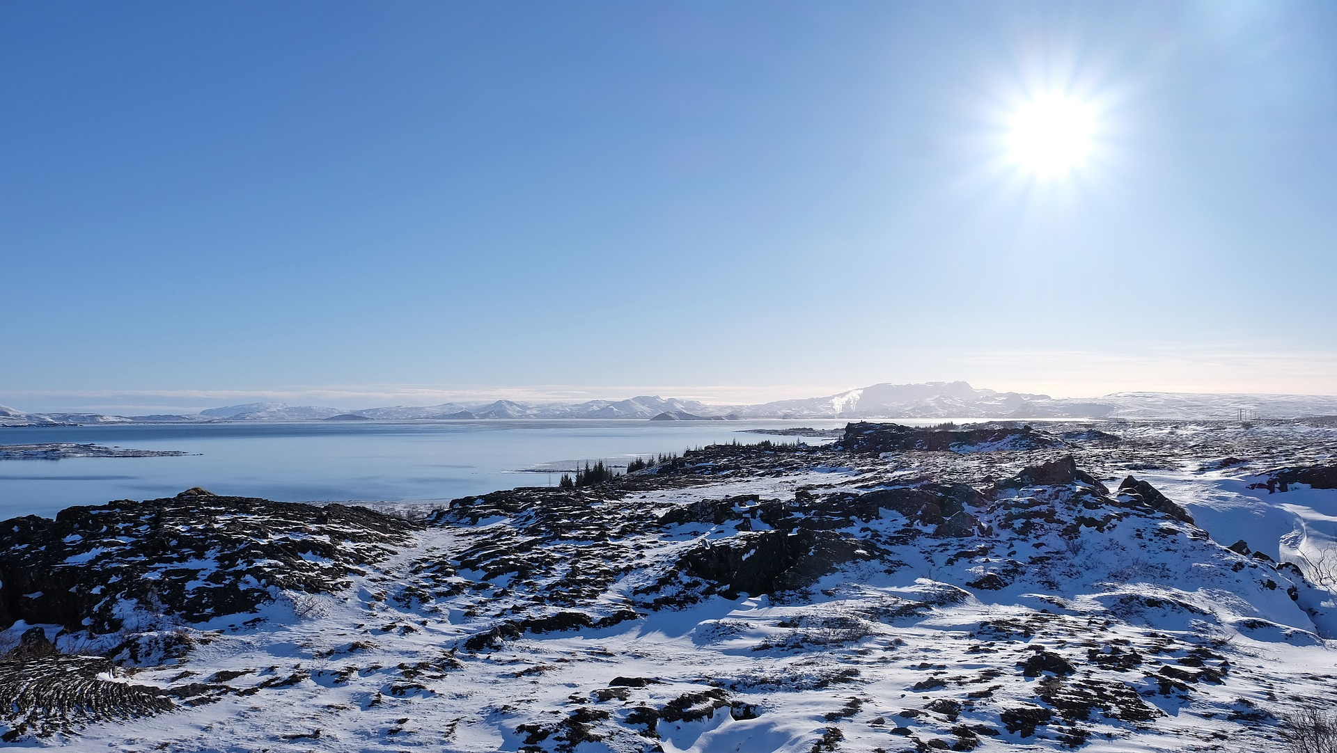 Thingvellir National Park during winter in Iceland